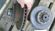 К-т передних тормозных дисков со ступицами W126